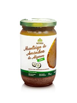 Manteiga de Amêndoa do Algarve com Alfarroba e Mel