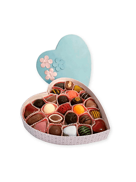 Caixa Coração Flores com 25 Bombons