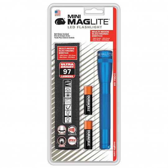 Linterna Mini Led Azul 2 pilas AA Blíster sp2211h, 500465