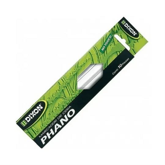 Marcador de Cera Tipo Lápiz Dixon Blanco, Caja c/10 pzas 17613