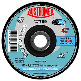 "Disco Abrasivo de Corte de Acero Inox 4 1/2"" x 3/64"" x 7/8"", 769"