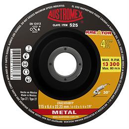 """Disco Abrasivo Desbaste 4 1/2"""" x 1/4"""" x 7/8"""", 525"""