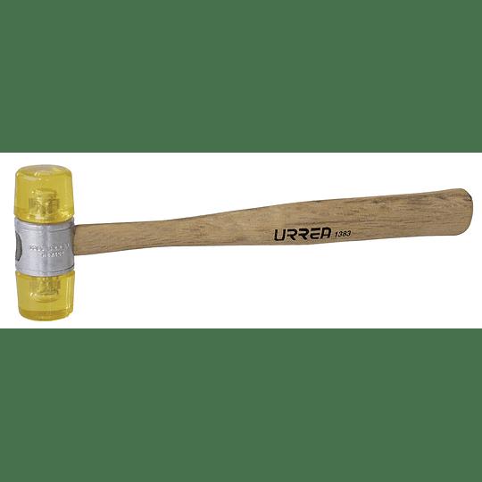 Martillo tapas plásticas 13oz mango de madera Urrea 1383