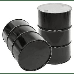Tambo Métalico 200 L con tapa y aro negro 900-99-99-460