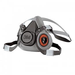 Respirador media cara mediano 6200