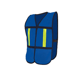 Chaleco malla con reflejante plástico azul