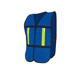 Chaleco malla con reflejante plástico azul SR-1010AZ