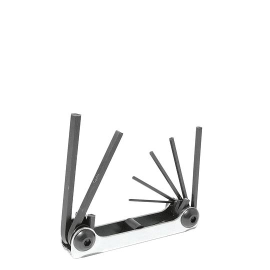 Juego de 7 llaves hexagonales tipo navaja 1.5-6 mm Urrea 4974
