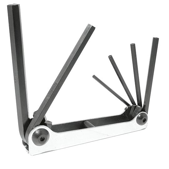 Juego de 6 llaves hexagonales tipo navaja 3-10 mm Urrea 4973