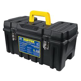 """Caja portaherramientas plástica 21"""" con broches metálicos Surtek CPS20"""