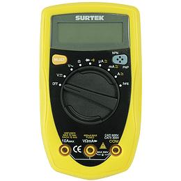 Surtek Multímetro compacto 500 VCD/500 VCA auto rango 111002