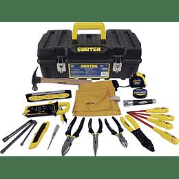 Surtek Juego para electricista de 21 piezas 125411