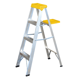 Surtek Escalera de aluminio tipo tijera, 3 peldaños, 1.21mt ET3