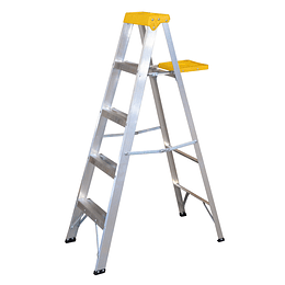 Surtek Escalera de aluminio tipo tijera, 4 peldaños, 1.54mt ET4