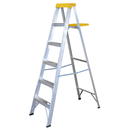 Surtek Escalera de aluminio tipo tijera, 5 peldaños, 1.83mt ET5