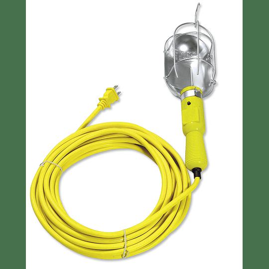 Lámpara de taller con canastilla metálica 8m Surtek 136096