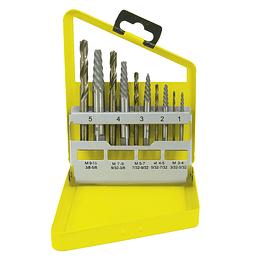 Juego de extractor tuercas barridas 10 piezas Surtek 107044