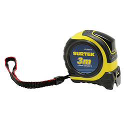 "Flexómetro rubber grip 3m x 5/8"" Surtek B122073"