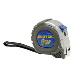 """Flexómetro anti-impacto silver 3m x 5/8"""" Surtek B122085"""