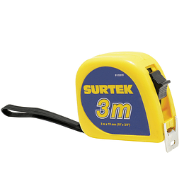 Flexómetro de invencible 3m x 3/4 Surtek B122070