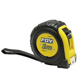"""Flexómetro anti impacto 3m x 1/2"""" Foy 142062"""