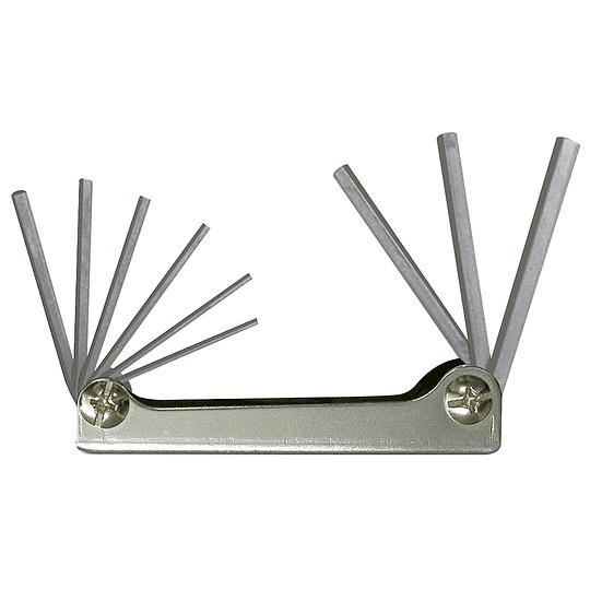 Juego de 9 llaves hexagonales en pulgadas tipo navaja Surtek ALLFN9