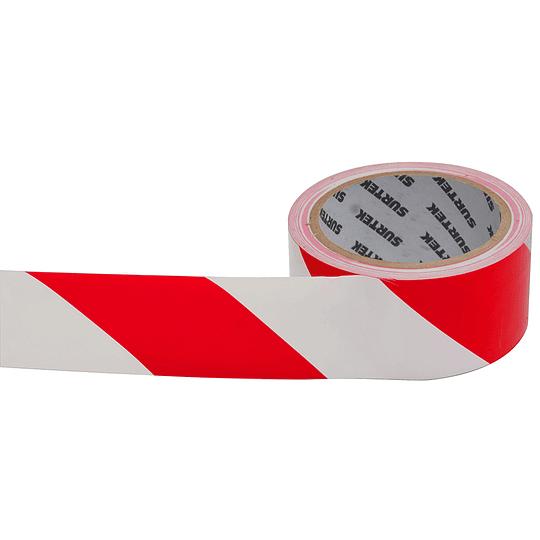 Cinta de señalización rojo y blanco 18 mt Surtek 138061