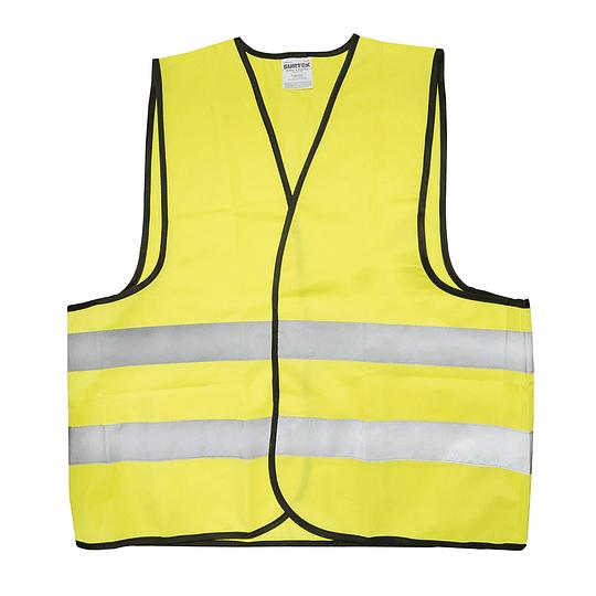 Chaleco seguridad tela amarillo cintas reflejantes Surtek 137378