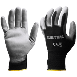 Guantes Nylon recubrimiento poliuretano talla mediana Surtek 137401