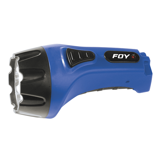 Linterna recargable de plástico 4 LED ergonómica Foy 144099