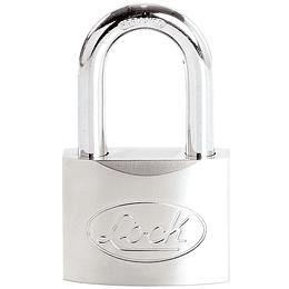 Candado acero largo llave de discos 60mm cromo satinado Lock L22L60DCSB