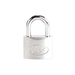 Candado acero corto llave de discos 50mm cromo satinado Lock L22S50DCSB