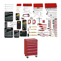 Juego intermedio industrial 210 piezas con gabinete EX27M6 99711A