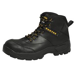 Botas de seguridad negras casquillo acero 28 Surtek 137516