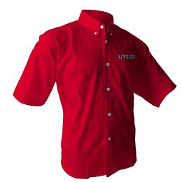 Camisa roja manga corta Urrea talla M Urrea CAMC201M