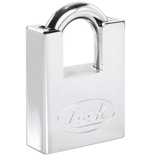 Candado acero antipalanca, llave discos cromo satinado Lock L22A50DCSB