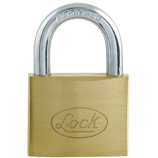 Candado de acero corto llave estándar 63mm latonado Lock L22S63ELBB