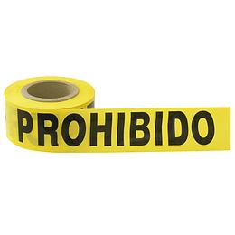 """Cinta barricada """"Prohibido el paso"""" 304 mt Surtek 137302"""