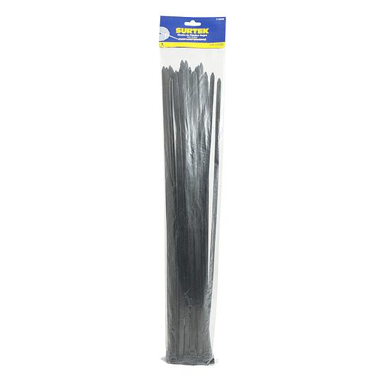 Cincho plástico 450 x 4.8mm 25 piezas negro Surtek 114217