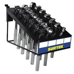 """Despachador con 24 dados y accesorios de mano de 3/8"""" Surtek 126134"""