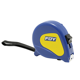 "Flexómetro 8m x 1"" azul Foy 142122"