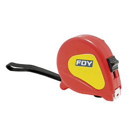 "Flexómetro 5m x 3/4"" rojo Foy 142126"