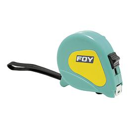 "Flexómetro 5m x 3/4"" turquesa Foy 142128"