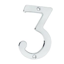 "Numero 3 slim 4"" cromo satinado Lock L6803CS"