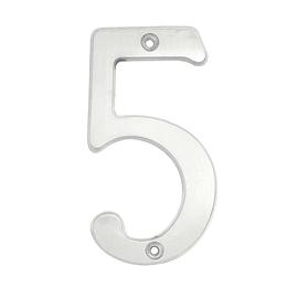 "Numero 5 slim 4"" cromo satinado Lock L6805CS"