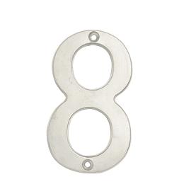 "Numero 8 slim 4"" cromo satinado Lock L6808CS"