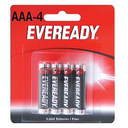 Pila alcalina marca Eveready® AAA con 4 piezas Surtek 1212-4