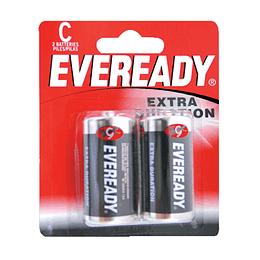 Pila alcalina marca Eveready® C con 2 piezas Surtek 1235-2