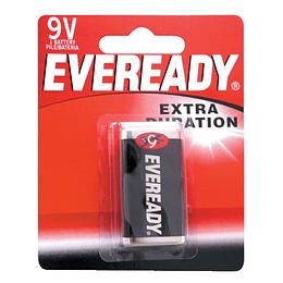 Pila alcalina marca Eveready® 9V con 1 pieza Surtek 1222-1