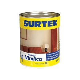 Pintura Vinílica blanca 4lt Surtek SP20300